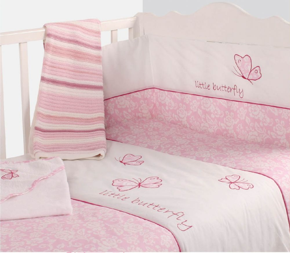 Sofa Sets Glasgow Baby Cot Girls Nursery Bedding Quilt & Bumper Pink Colour